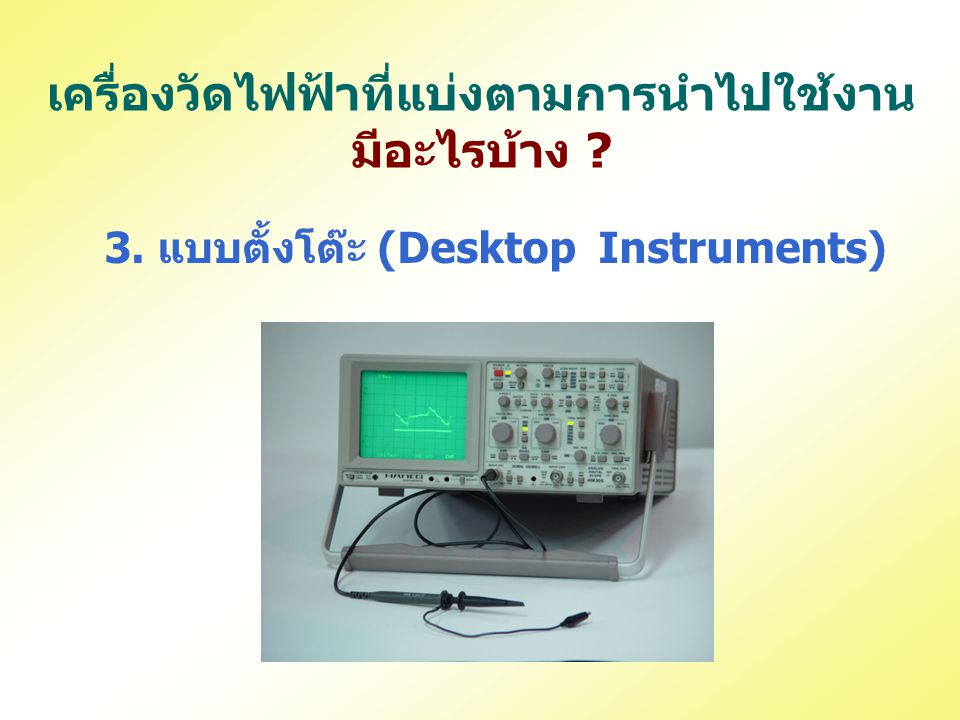 เครื่องวัดไฟฟ้าที่แบ่งตามการนำไปใช้งาน