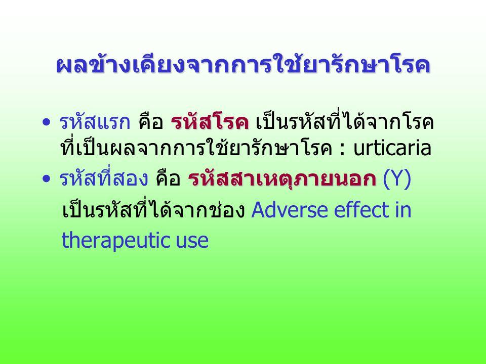 ผลข้างเคียงจากการใช้ยารักษาโรค