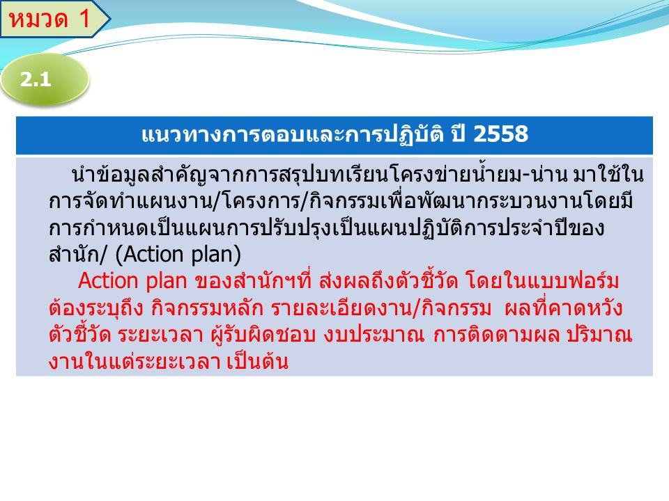 แนวทางการตอบและการปฏิบัติ ปี 2558