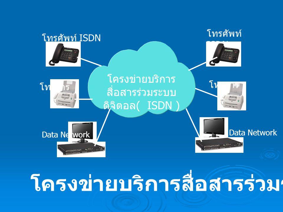 โครงข่ายบริการสื่อสารร่วมระบบดิจิตอล( ISDN )