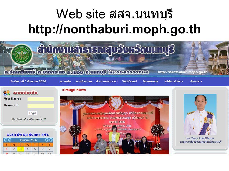 Web site สสจ.นนทบุรี http://nonthaburi.moph.go.th