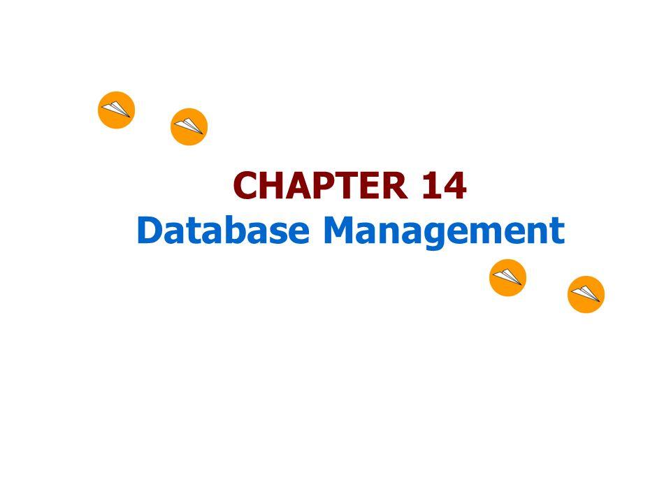 CHAPTER 14 Database Management
