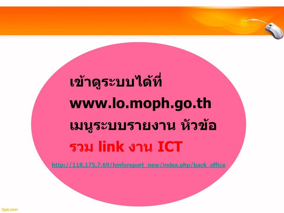 เข้าดูระบบได้ที่ www. lo. moph. go