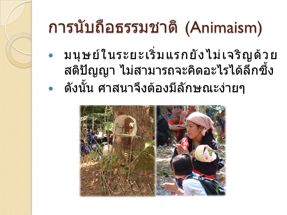 การนับถือธรรมชาติ (Animaism)
