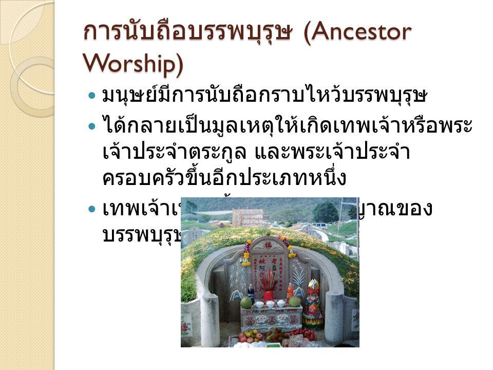 การนับถือบรรพบุรุษ (Ancestor Worship)
