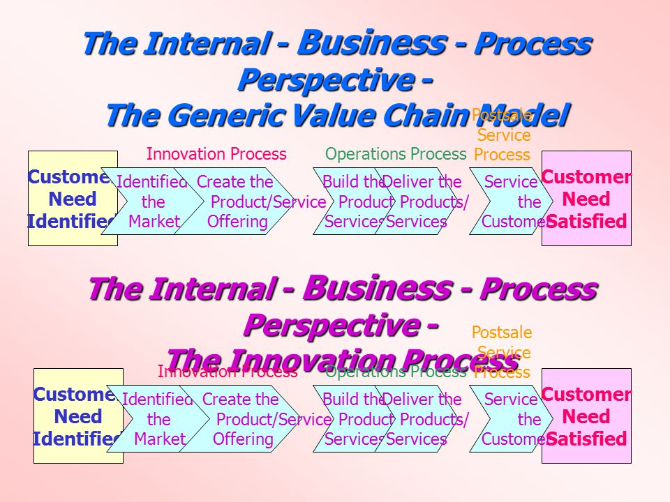 The Internal - Business - Process Perspective -