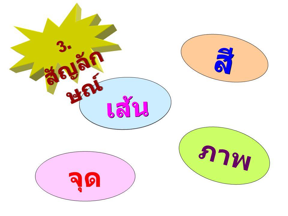 3.สัญลักษณ์ สี เส้น ภาพ จุด