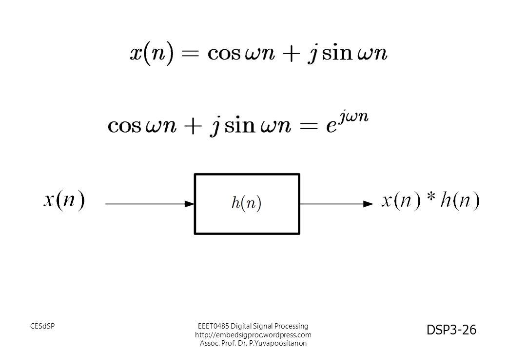 CESdSP EEET0485 Digital Signal Processing http://embedsigproc.wordpress.com Assoc.