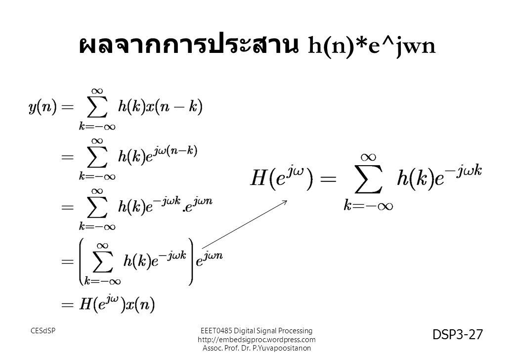 ผลจากการประสาน h(n)*e^jwn