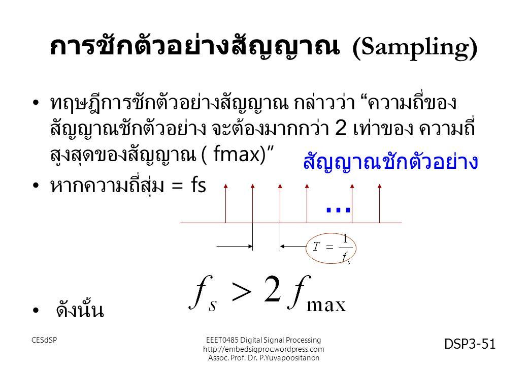 การชักตัวอย่างสัญญาณ (Sampling)