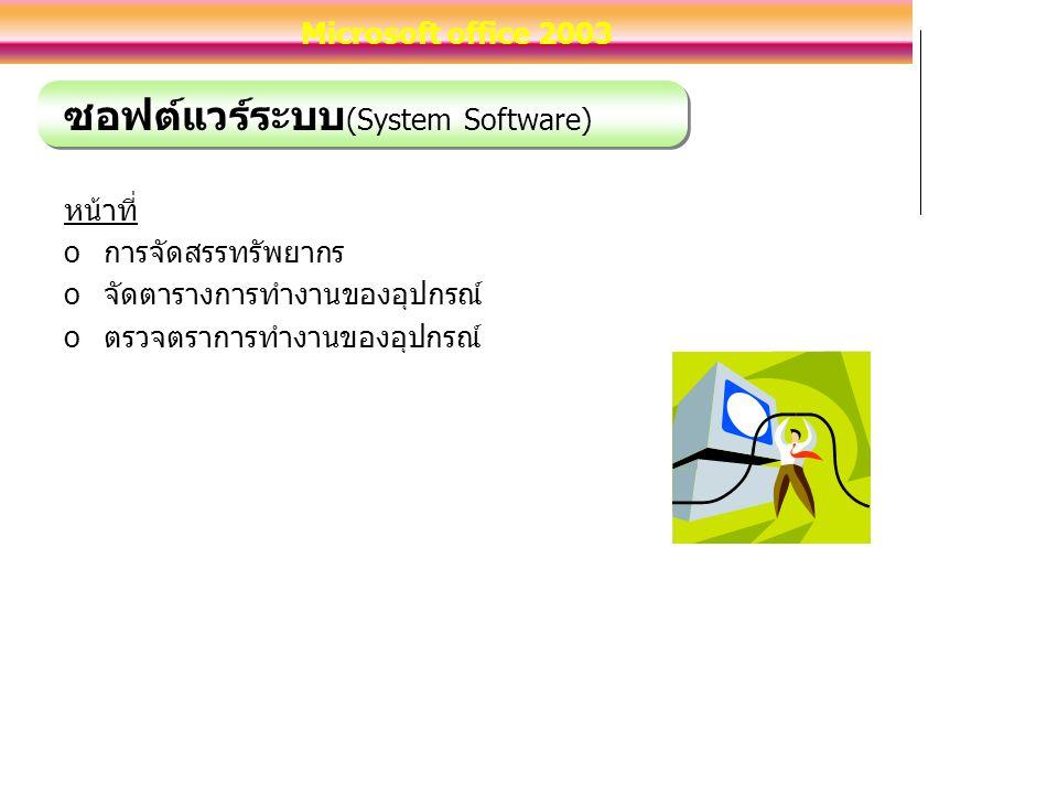 ซอฟต์แวร์ระบบ(System Software)