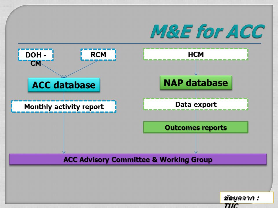 Monthly activity report ACC Advisory Committee & Working Group