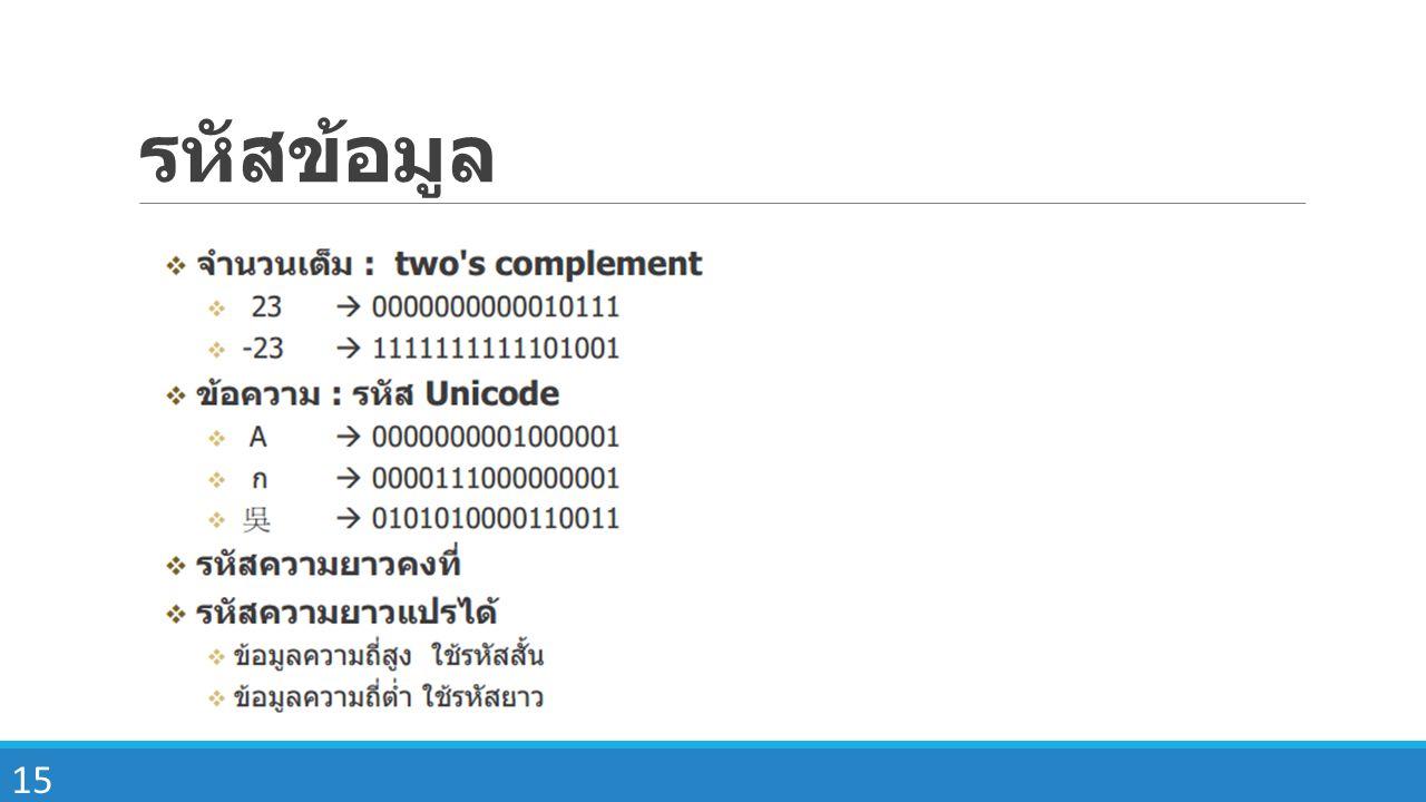 รหัสข้อมูล