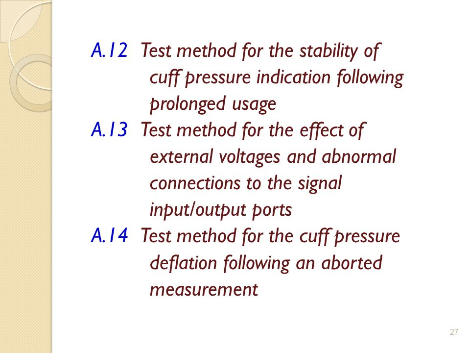 A.12 Test method for the stability of