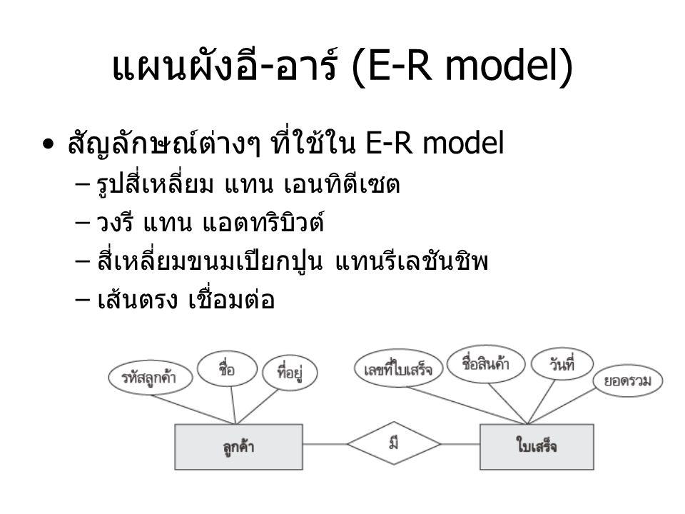 แผนผังอี-อาร์ (E-R model)