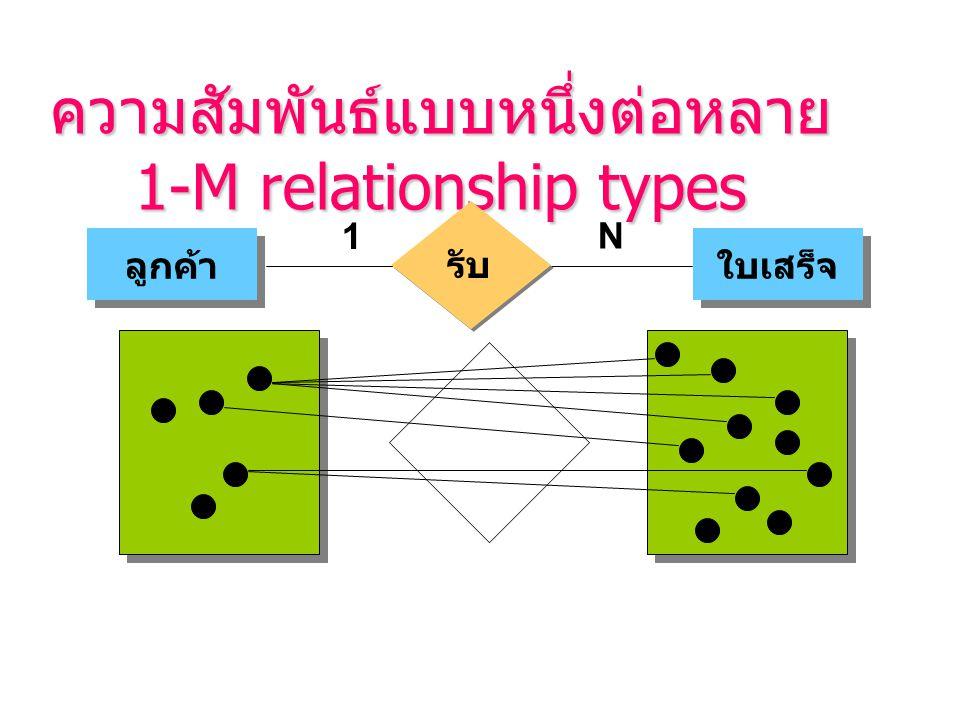 ความสัมพันธ์แบบหนึ่งต่อหลาย 1-M relationship types
