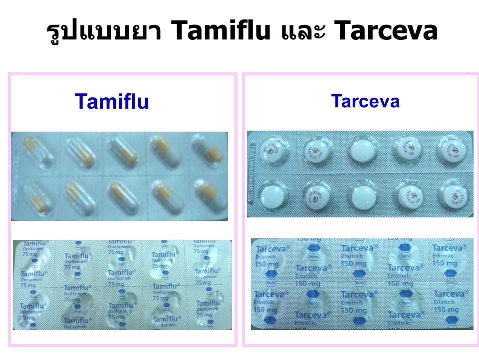 รูปแบบยา Tamiflu และ Tarceva