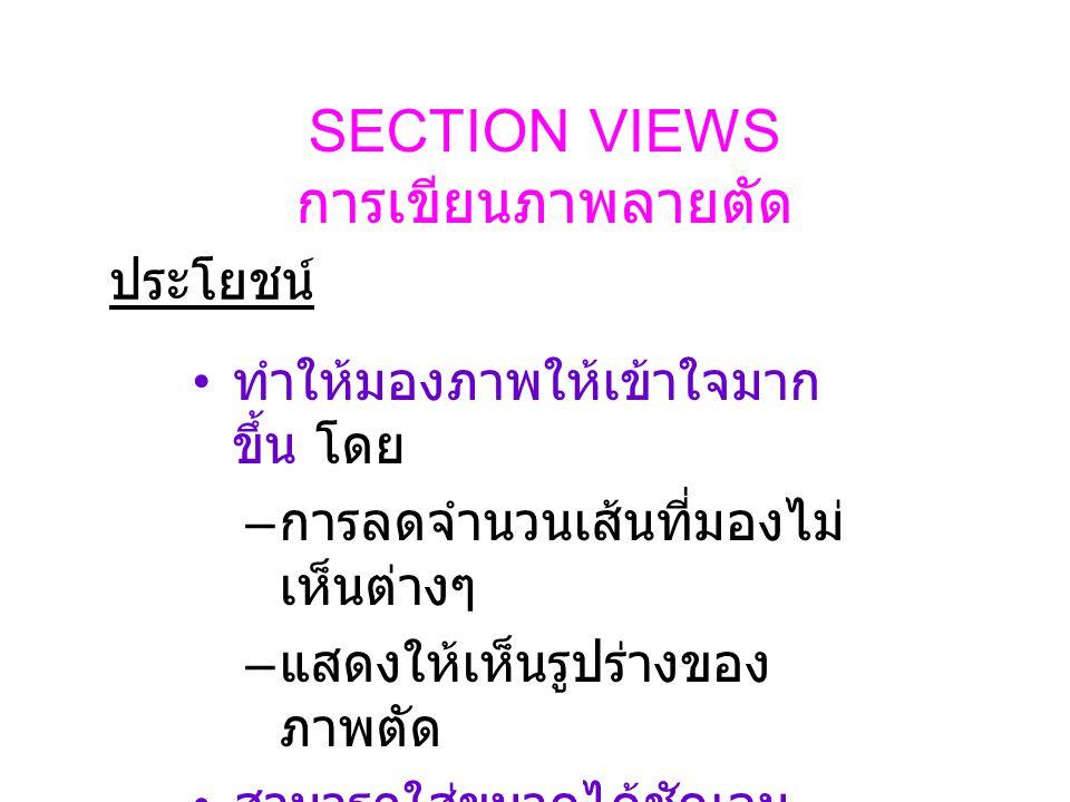SECTION VIEWS การเขียนภาพลายตัด