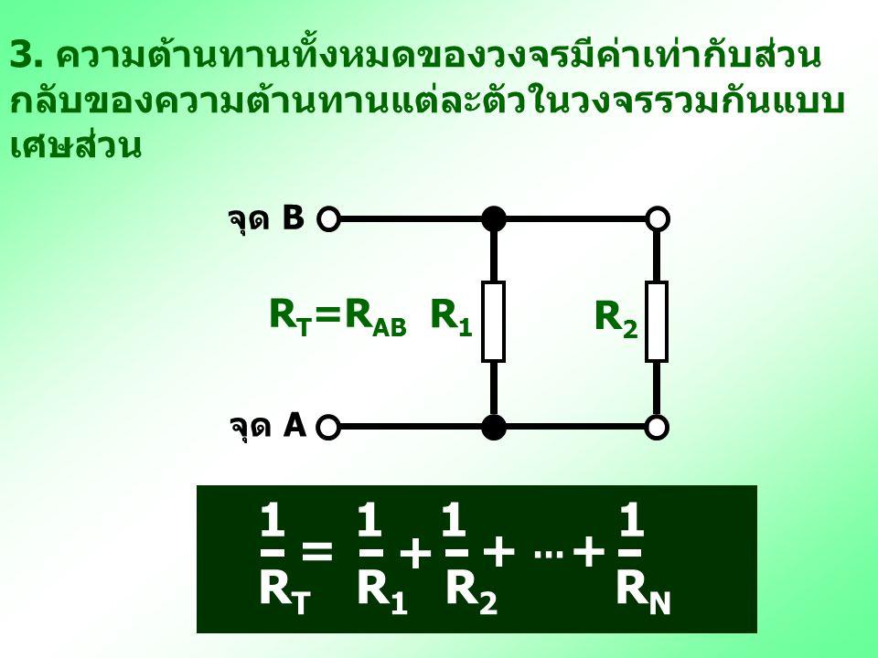 = + gh R1 R2 R3 … RN 1 1 1 1 RT R1 R2 RN RT=RAB R1 R2