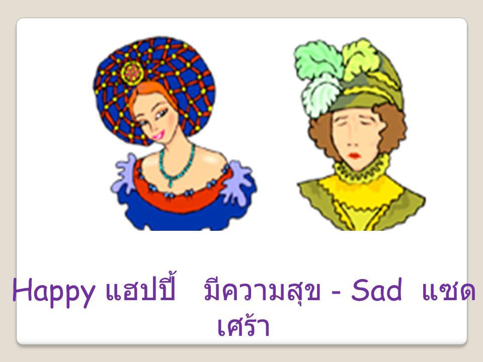 Happy แฮปปี้ มีความสุข - Sad แซด เศร้า