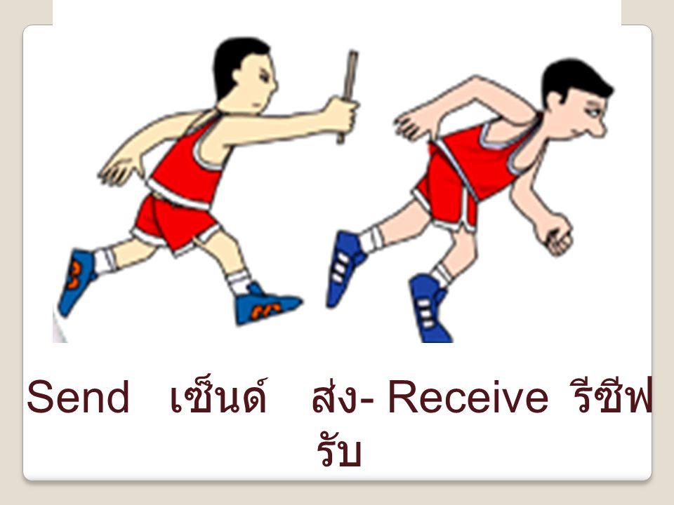 Send เซ็นด์ ส่ง- Receive รีซีฟ รับ