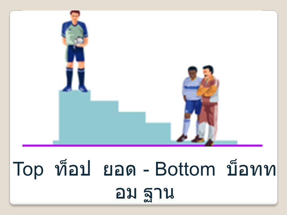 Top ท็อป ยอด - Bottom บ็อททอม ฐาน