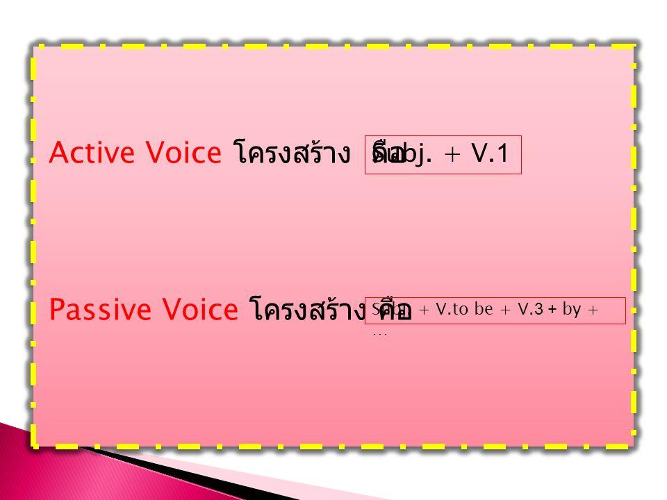 Active Voice โครงสร้าง คือ