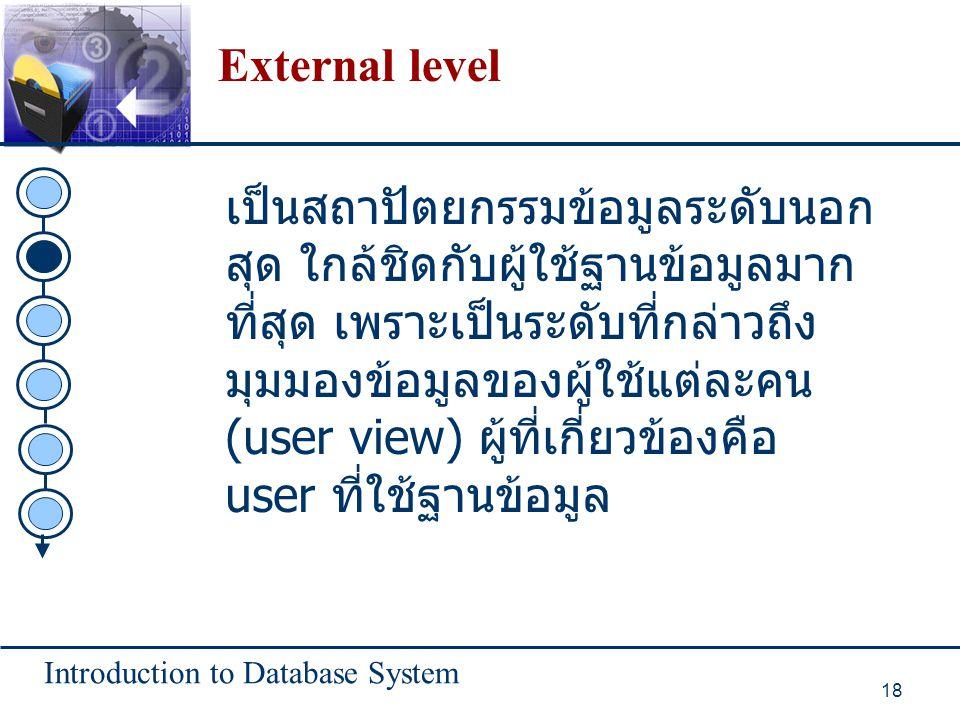 External level