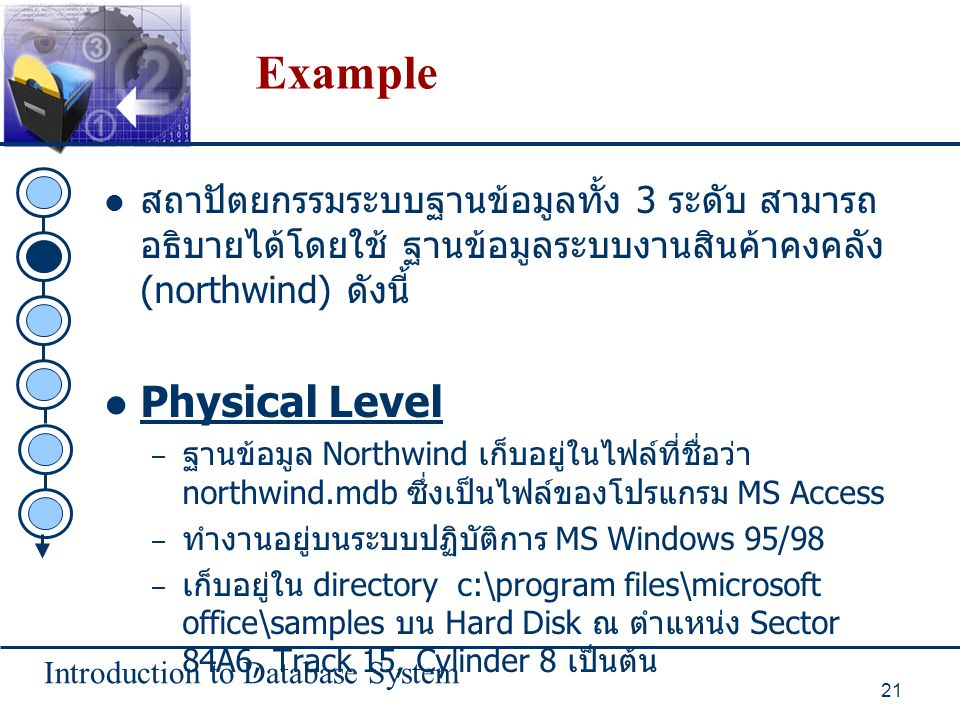 Example Physical Level