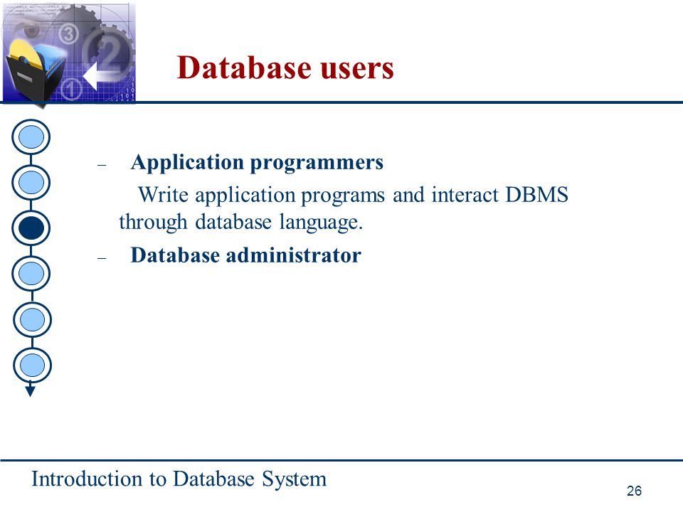 Database users Application programmers
