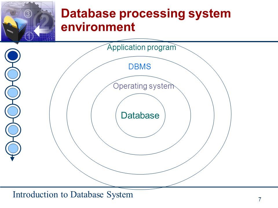 Database processing system environment