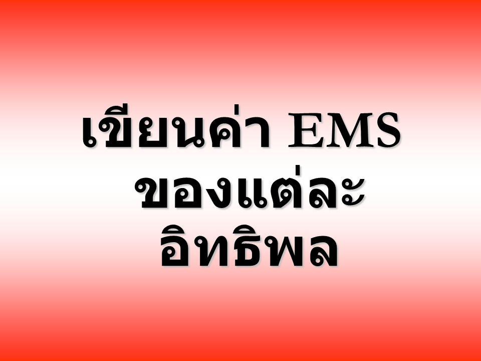 เขียนค่า EMS ของแต่ละอิทธิพล