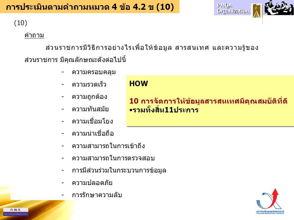 การประเมินตามคำถามหมวด 4 ข้อ 4.2 ข (10)