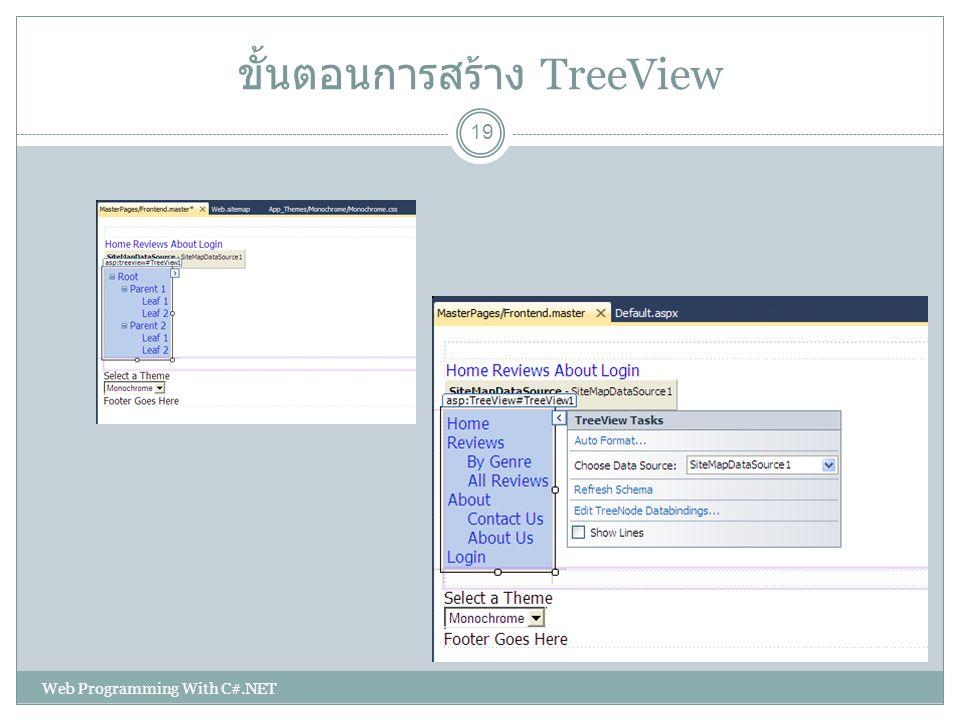 ขั้นตอนการสร้าง TreeView