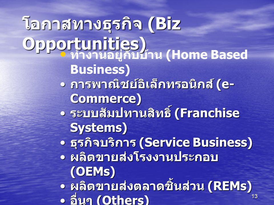 โอกาสทางธุรกิจ (Biz Opportunities)
