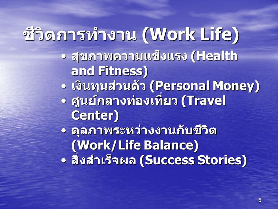 ชีวิตการทำงาน (Work Life)