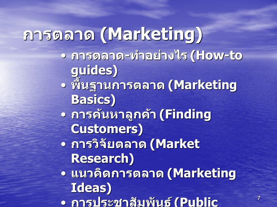 การตลาด (Marketing) การตลาด-ทำอย่างไร (How-to guides)