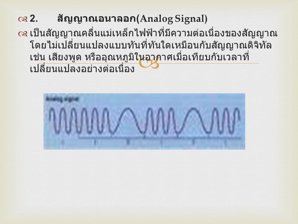 2. สัญญาณอนาลอก(Analog Signal)