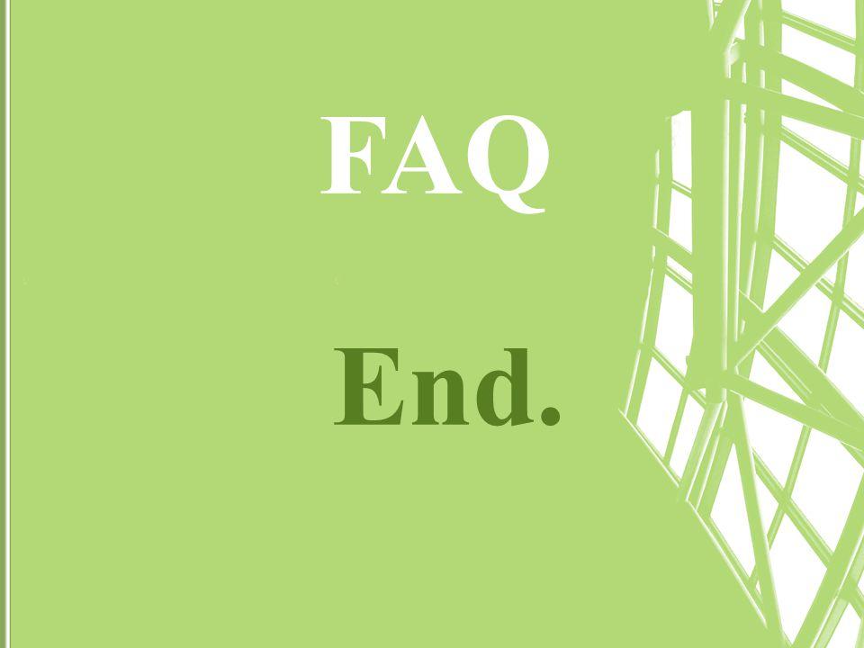 FAQ End.