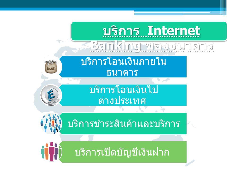 บริการ Internet Banking ของธนาคาร
