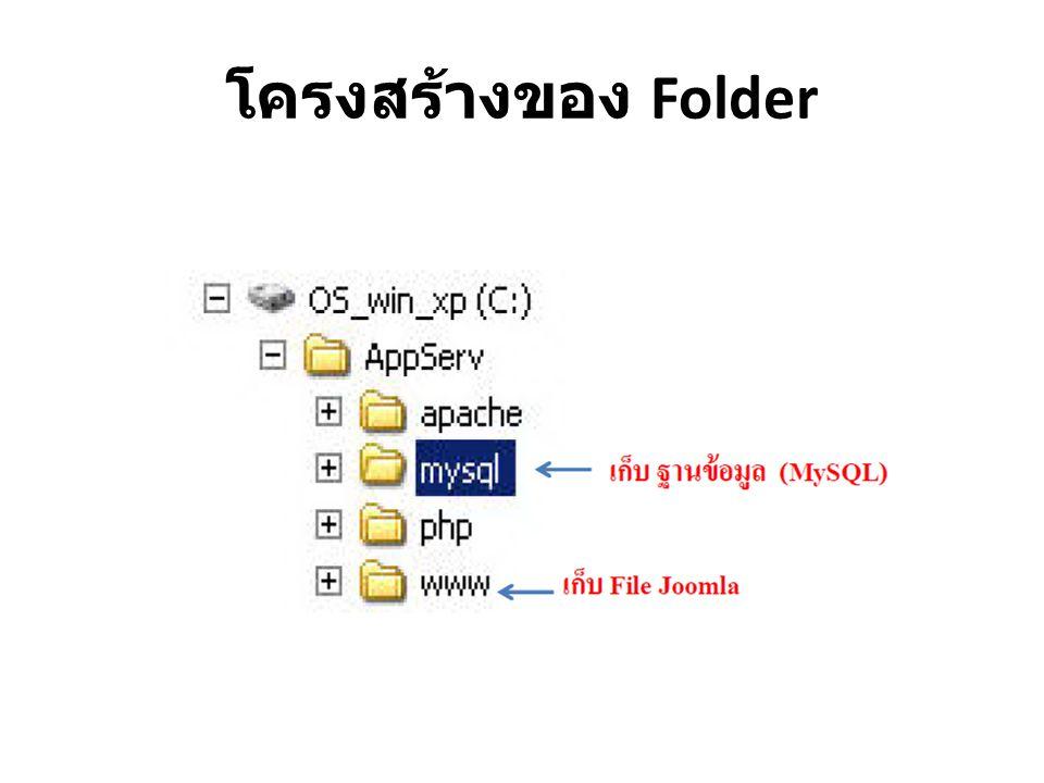 โครงสร้างของ Folder