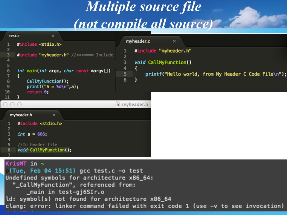 Multiple source file (not compile all source)
