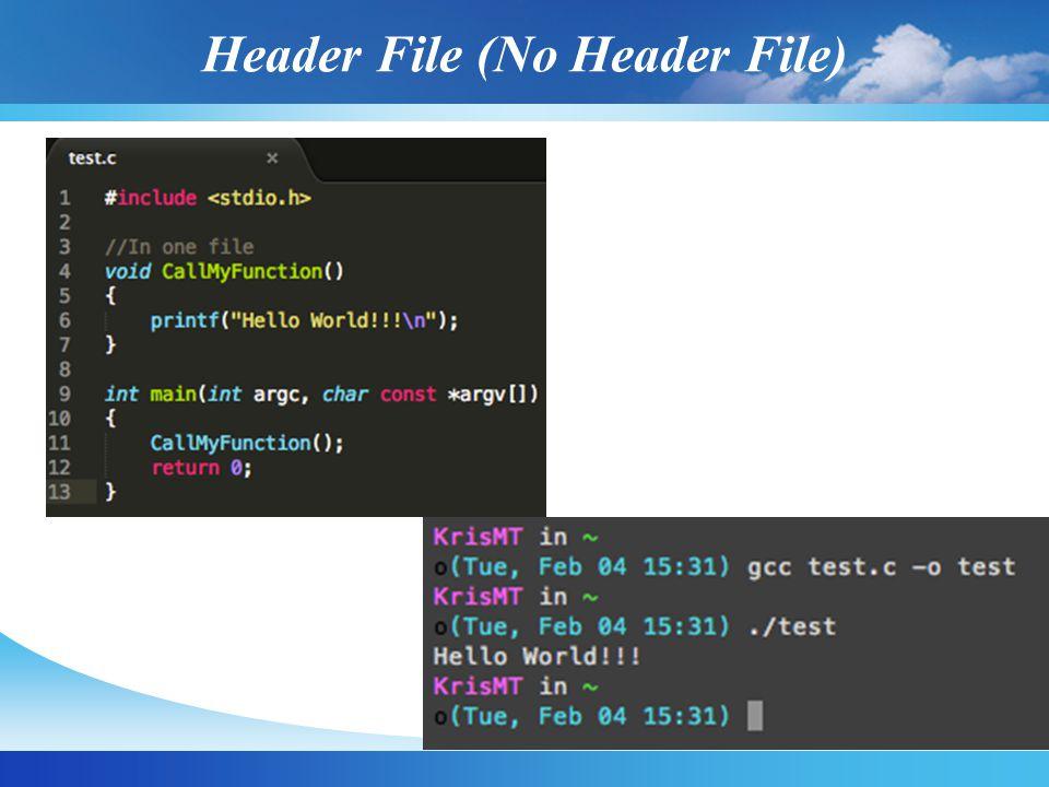 Header File (No Header File)