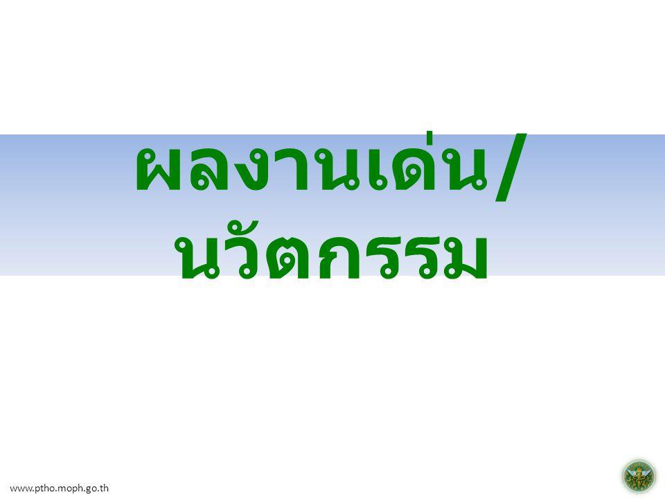 ผลงานเด่น/นวัตกรรม www.ptho.moph.go.th