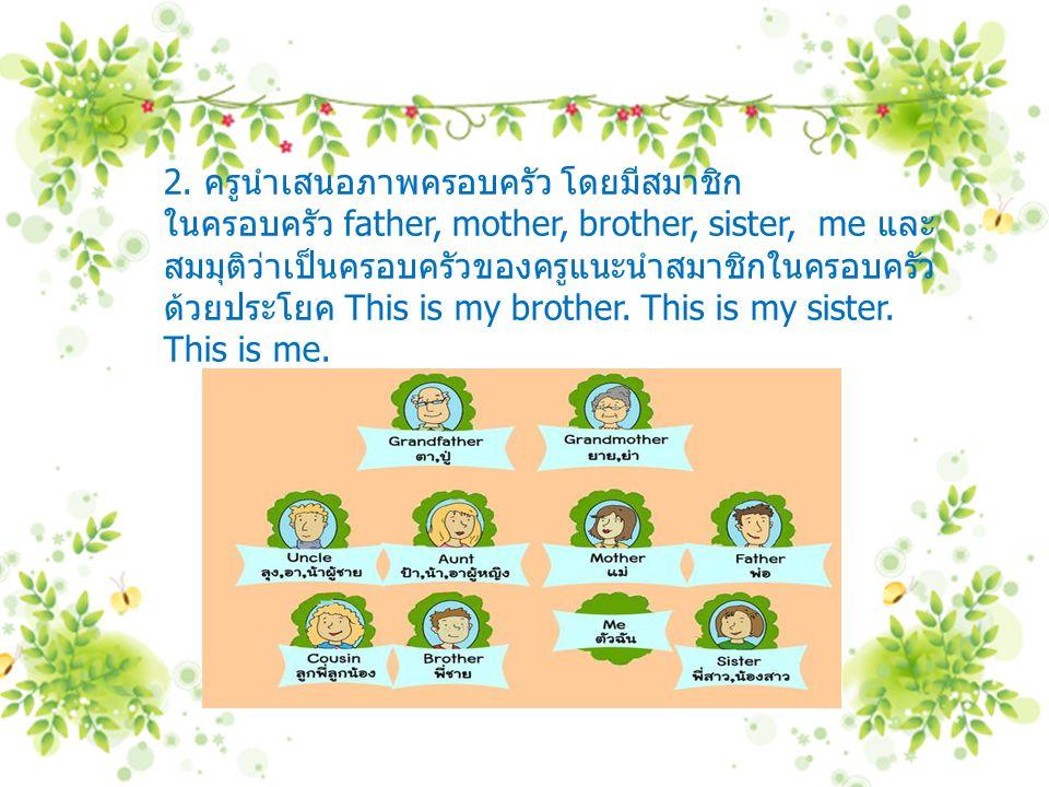 2. ครูนำเสนอภาพครอบครัว โดยมีสมาชิก
