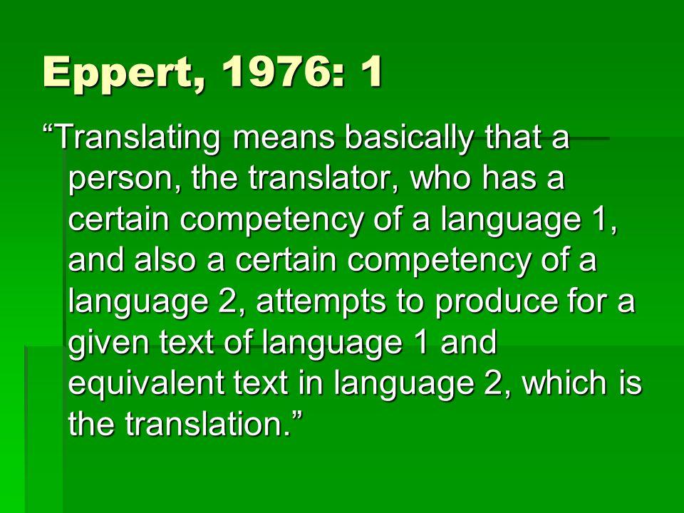 Eppert, 1976: 1