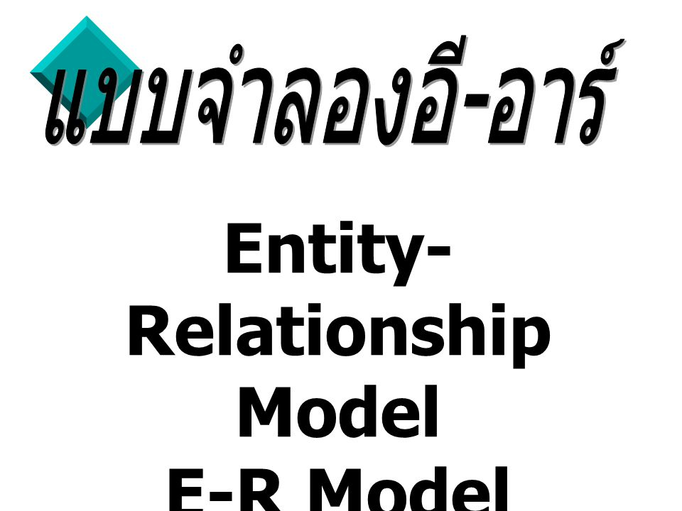 Entity-Relationship Model E-R Model