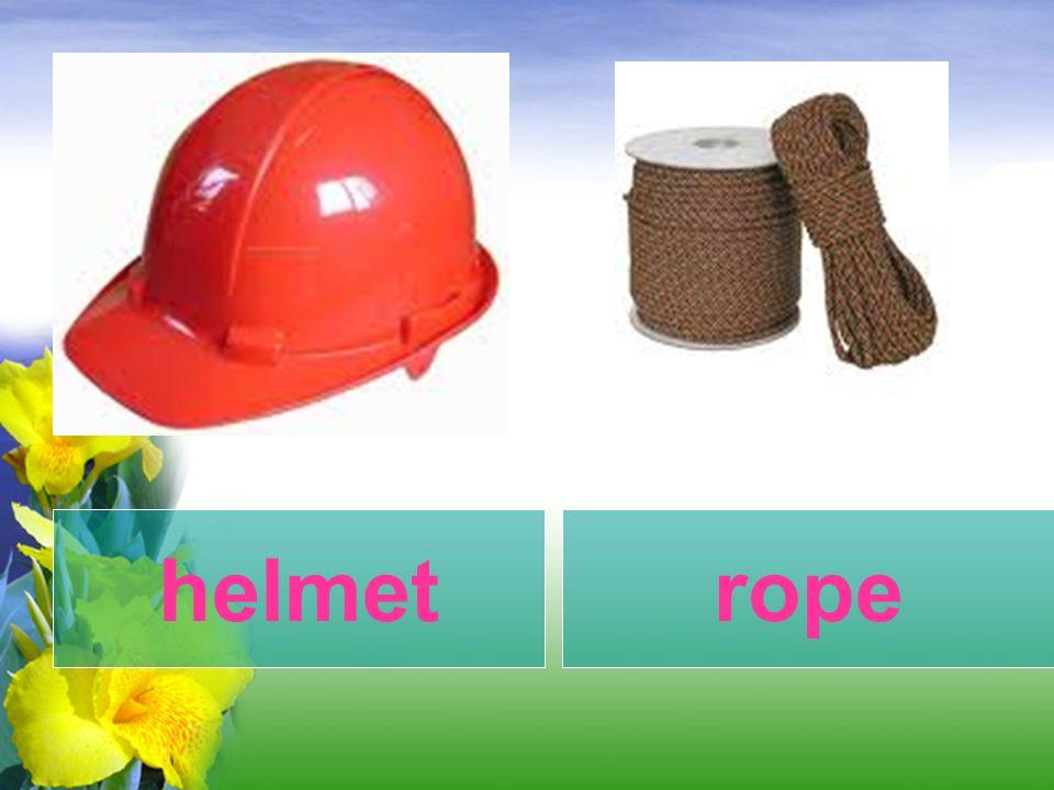 helmet rope