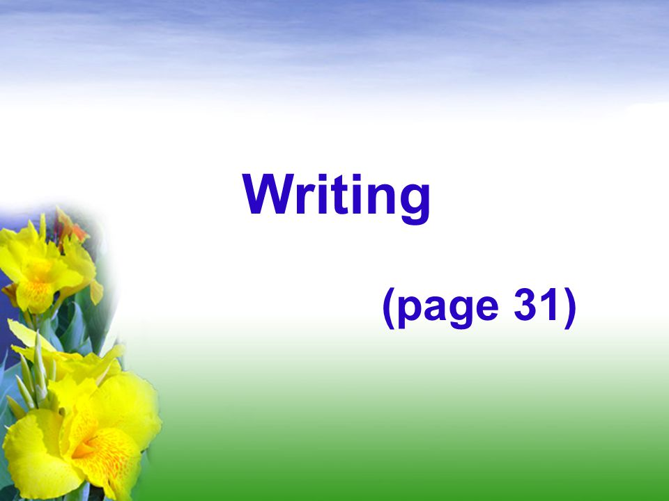 Writing (page 31)