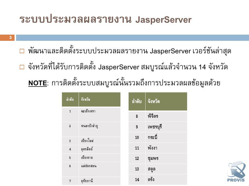 ระบบประมวลผลรายงาน JasperServer